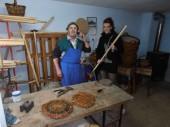 Mojster Ivan izdeluje korpe