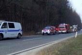 Voznica v prometni nesreči na cesti Lenart – Gornja Radgona hudo telesno poškodovana