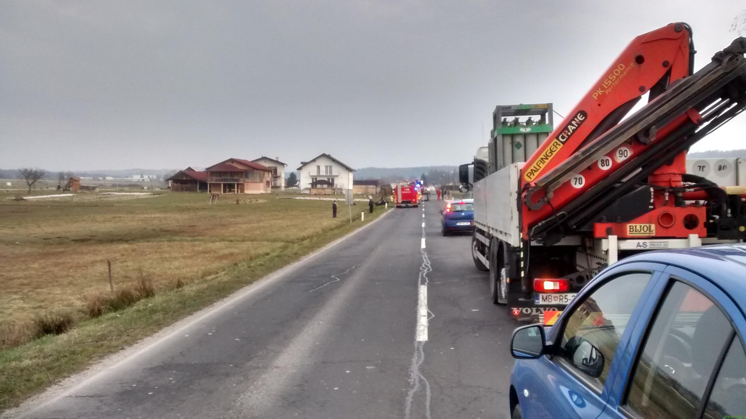 Smrtna žrtev v prometni nesreči v Novi vasi pri Ptuju