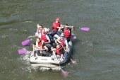 Tekmovanje z raft čolni na 7. dnevu reke Mure v Gornji Radgoni