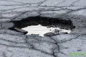 Obnova ceste v Radehovi, za pločnike zmanjkalo denarja