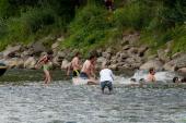 Dan evropske Amazonke in veliki skok v Muro tudi na mostu v Črncih
