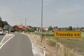Dela na lokalni cesti Trnovska vas – Pesjak