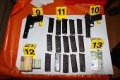 FOTO: Zasegli droge in več orožja
