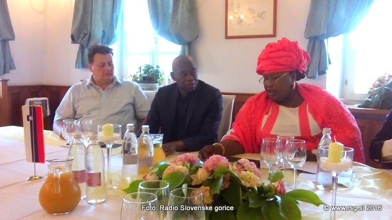 Senegalska gospodarska delegacija v Sveti Trojici
