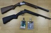 Med hišno preiskavo so našli in zasegli dve puški
