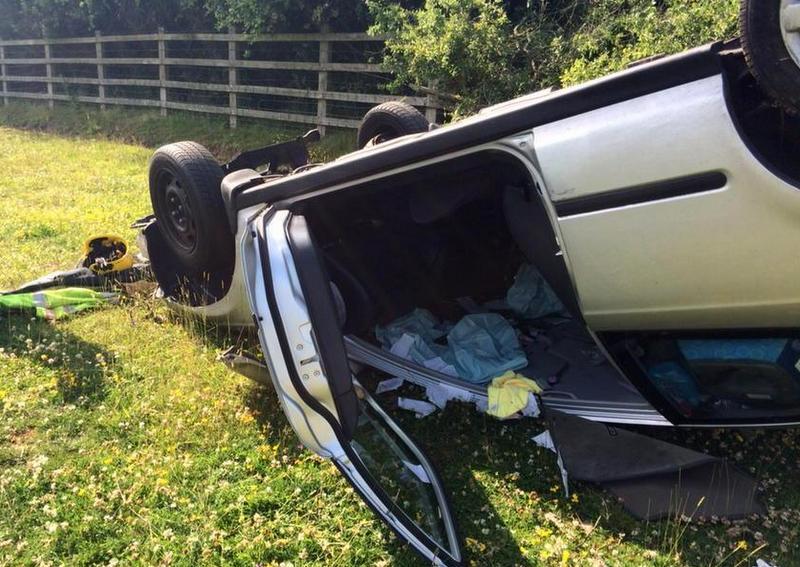 Huda prometna nesreča v Spodnji Voličini