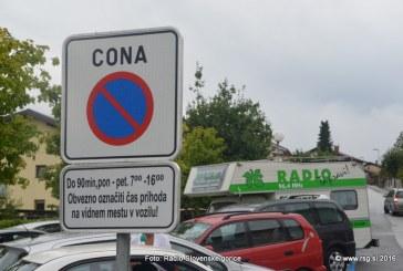 FOTO: Vandranje – V Lenartu časovno omejeno parkiranje