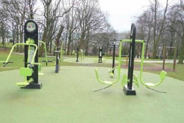 V Račah fitnes naprave na prostem
