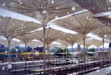 Osrednja mariborska tržnica še eno zimo pod dežniki