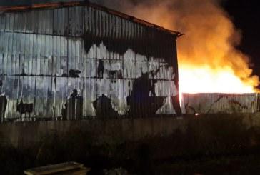 FOTO: Papir servis v Lenartu po požaru obiskal okoljski inšpektor in izrekel nekaj ukrepov