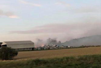 FOTO/VIDEO: Znane so podrobnosti včerajšnje gasilske intervencije v podjetju Saubermacher