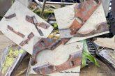 VIDEO/FOTO: Namerno uničevanje kombajnov v Slovenskih goricah se nadaljuje, kmetje jezni in obupani