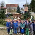 FOTO: V Voličini člani društva Presmec postavili nove jaslice