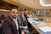 Delegacija slovenskih županov v Bruslju na sedežu Evropske komisije