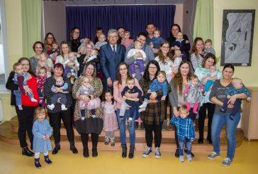 Sprejem novorojencev pri županu Petru Škrlecu