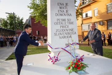 FOTO: V LENARTU ODKRILI STEBER SLOVENSKE DRŽAVNOSTI